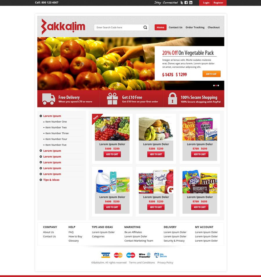 #6 for Design a Website Mockup for ONLINE SUPER MARKET by Pavithranmm