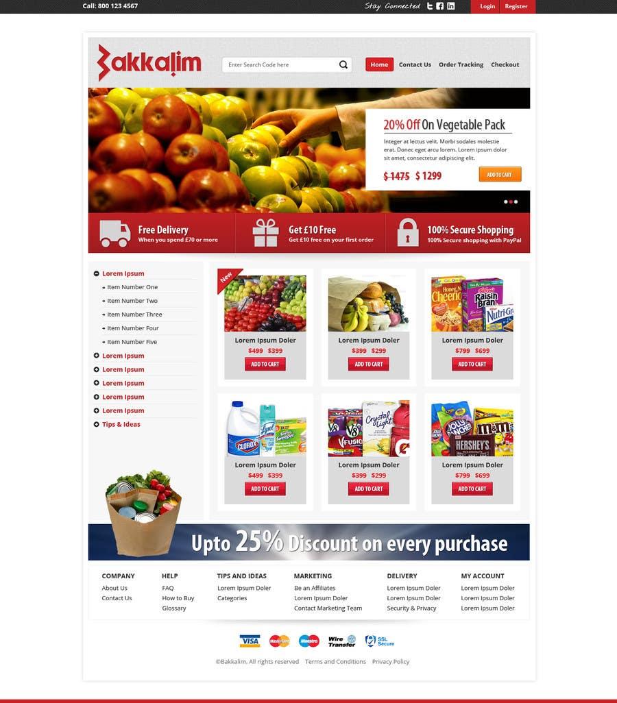 #12 for Design a Website Mockup for ONLINE SUPER MARKET by Pavithranmm