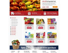 #12 para Design a Website Mockup for ONLINE SUPER MARKET por Pavithranmm