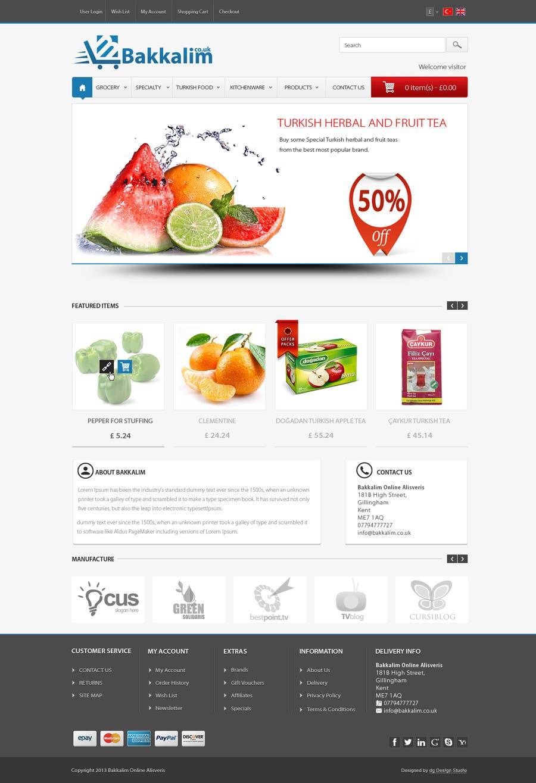 #11 for Design a Website Mockup for ONLINE SUPER MARKET by datagrabbers