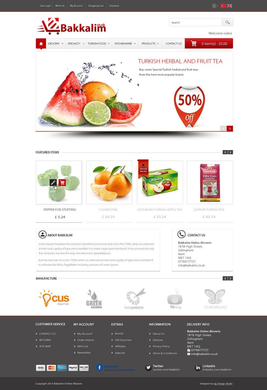 #36 for Design a Website Mockup for ONLINE SUPER MARKET by datagrabbers