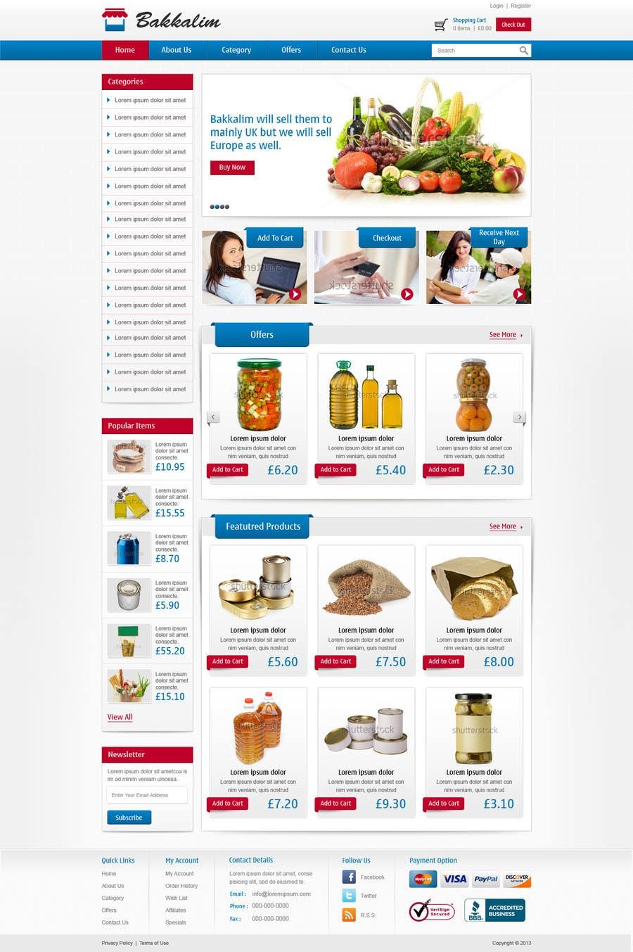 #20 for Design a Website Mockup for ONLINE SUPER MARKET by nitinatom