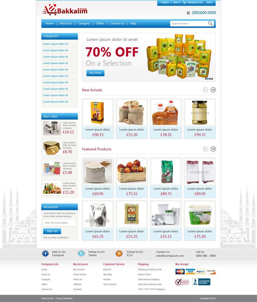 #39 for Design a Website Mockup for ONLINE SUPER MARKET by nitinatom