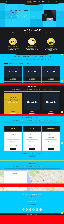 Konkurrenceindlæg #                                        3                                      for                                         Design a Website Mockup for AirCommit