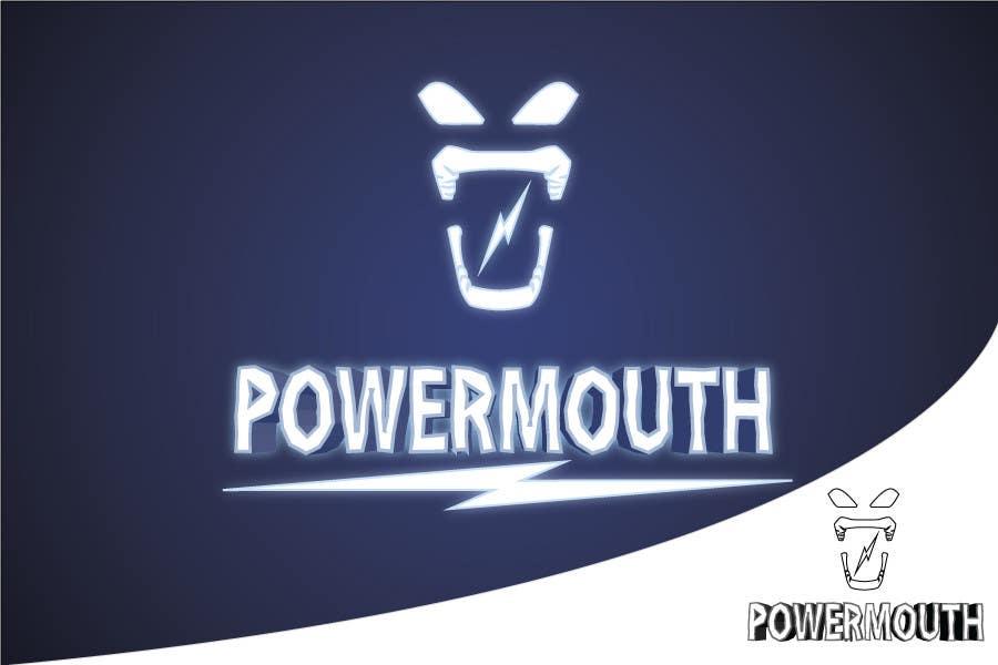 "Конкурсная заявка №58 для Logo and Symbol Design for ""POWERMOUTH"", melodic industrial metal band"