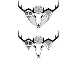 #17 untuk Design a logo with 3 animals (color and b/w lineart) oleh YuriiMak
