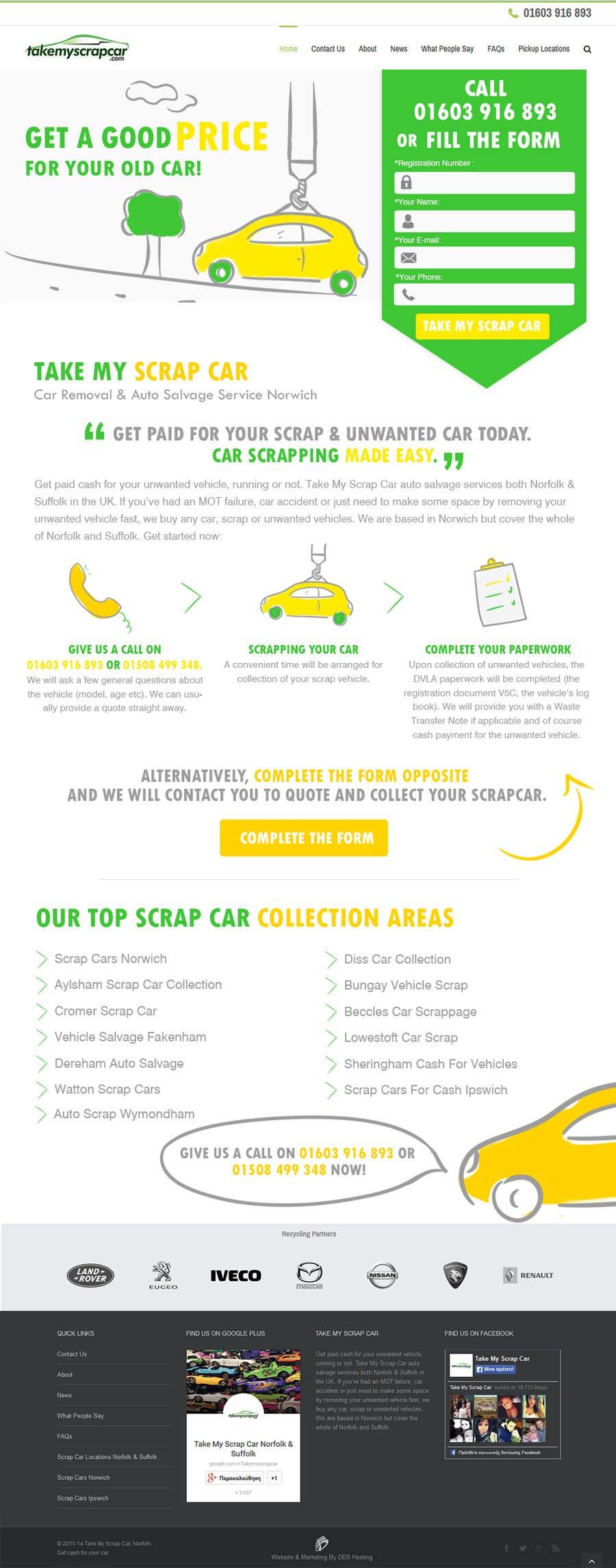 Konkurrenceindlæg #47 for Design a Website Mockup for www.takemyscrapcar.com