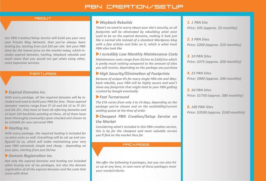Konkurrenceindlæg #7 for Design an Advertisement for an SEO-related Service (PBN Creation/Setup Service)