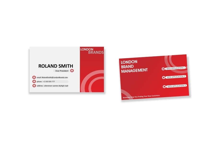 Penyertaan Peraduan #                                        19                                      untuk                                         Business Card Design for London Brand Management