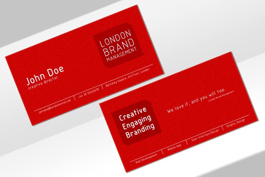 Penyertaan Peraduan #                                        33                                      untuk                                         Business Card Design for London Brand Management