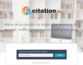 #57 para Design a simple landing page for citation.io por xrevolation