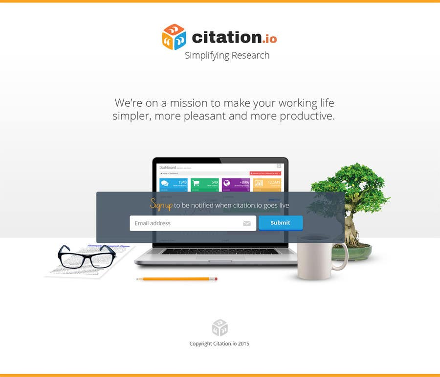Contest Entry #38 for Design a simple landing page for citation.io