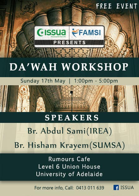 """Konkurrenceindlæg #43 for """"Da'wah Workshop"""" - Islamic Flyer"""