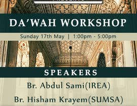 "nº 43 pour ""Da'wah Workshop"" - Islamic Flyer par razikabdul"