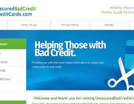 #33 for Design a Logo for www.unsecuredbadcreditcreditcards.com by Sharkhead