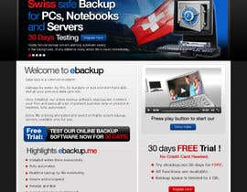 #66 untuk Website Design for Ebackup.me Online Backup Solution oleh crecepts