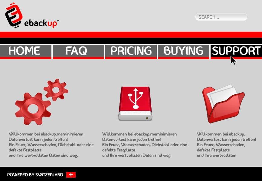 Contest Entry #                                        65                                      for                                         Website Design for Ebackup.me Online Backup Solution