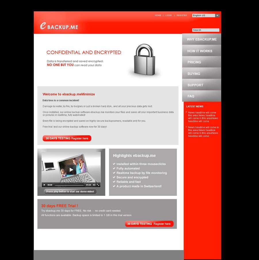 Contest Entry #                                        106                                      for                                         Website Design for Ebackup.me Online Backup Solution