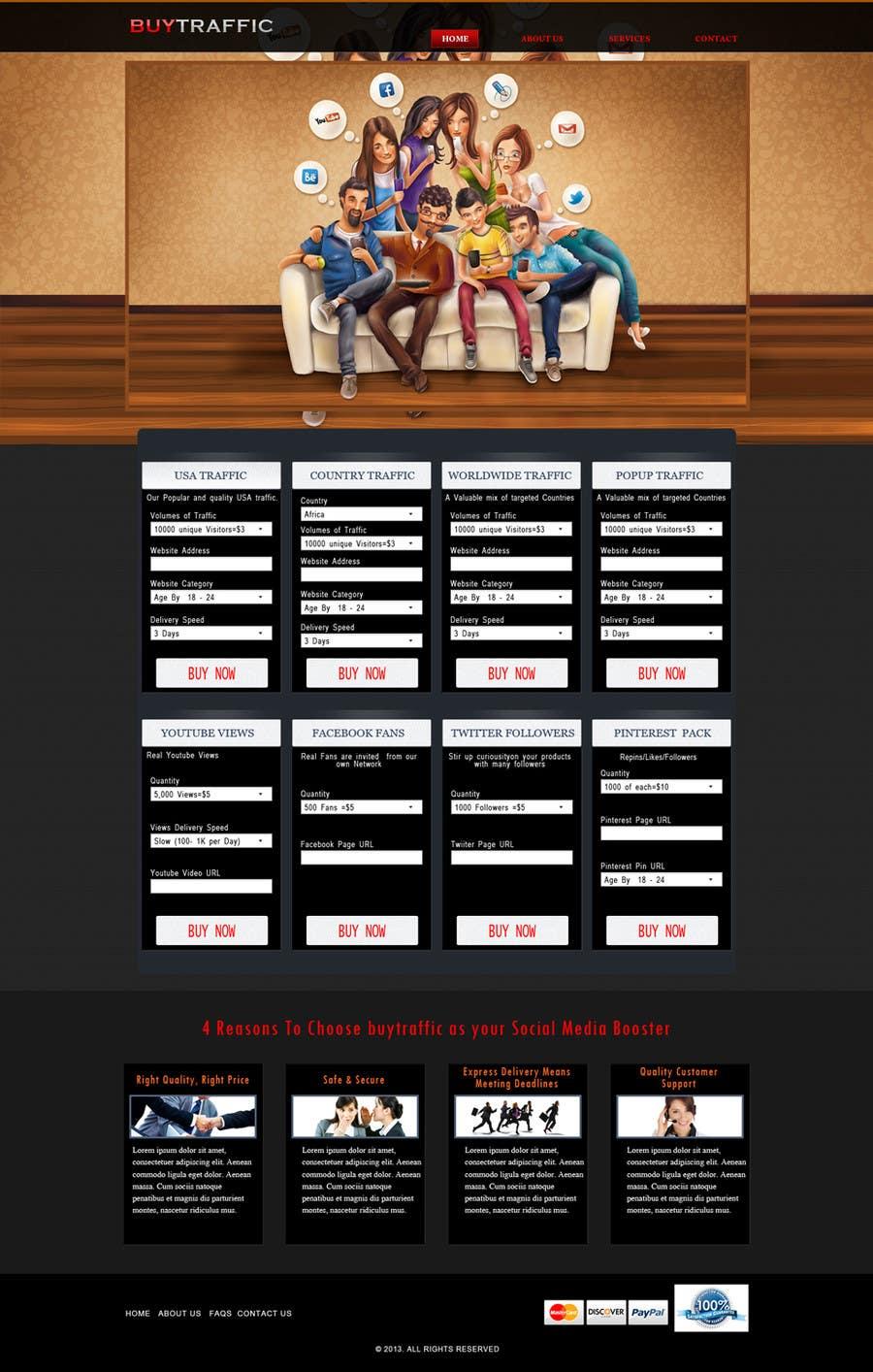 Inscrição nº                                         4                                      do Concurso para                                         Design a Website Mockup for my site