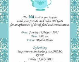 #19 para High Tea Invitation por thoughtcafe