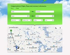 helixnebula2010 tarafından Design a Website Mockup for a Flight Price Analytics Page için no 7