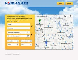 helixnebula2010 tarafından Design a Website Mockup for a Flight Price Analytics Page için no 11