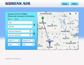 helixnebula2010 tarafından Design a Website Mockup for a Flight Price Analytics Page için no 13