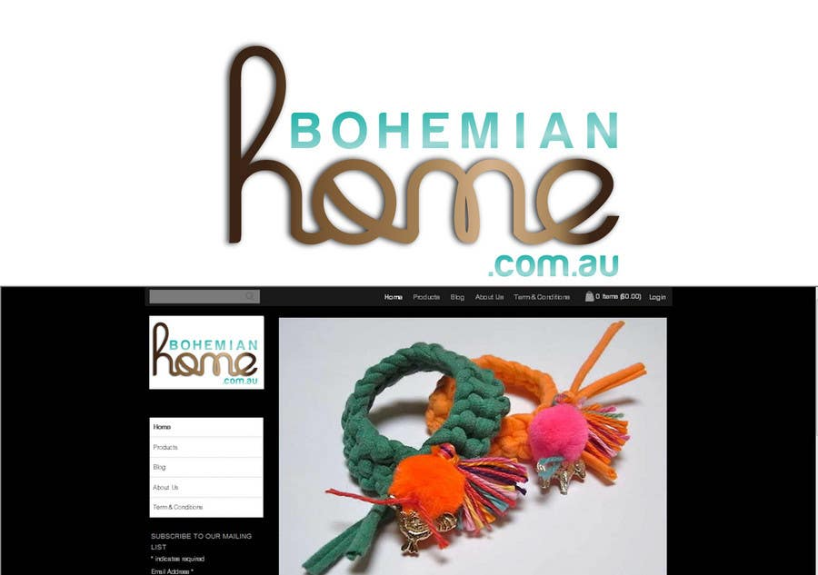 Contest Entry #                                        170                                      for                                         LOGO design for www.bohemianhome.com.au