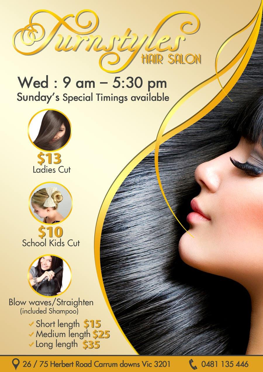 Bài tham dự cuộc thi #16 cho Design a Flyer for Hair Salon