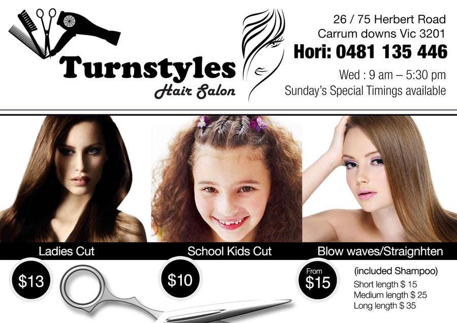 Bài tham dự cuộc thi #9 cho Design a Flyer for Hair Salon