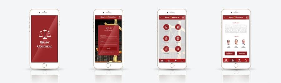 Proposition n°21 du concours Design an App Mockup for Lawyer App