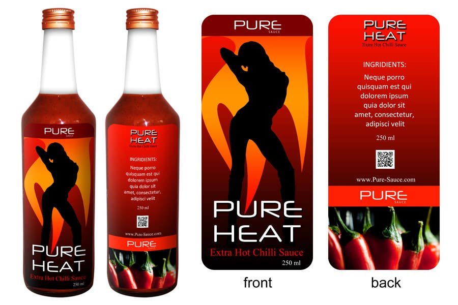 #75 for Graphic Design for Chilli Sauce label by Anmech