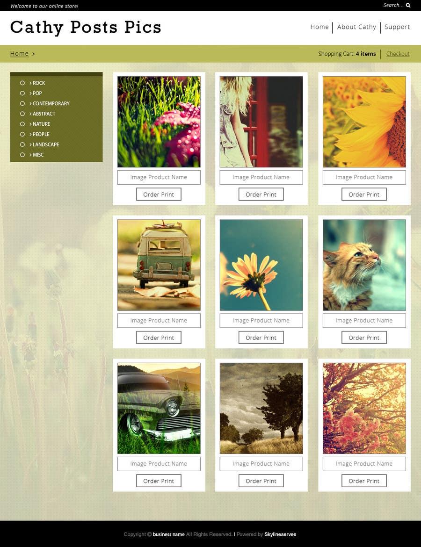 Konkurrenceindlæg #                                        28                                      for                                         Cathy Posts Pics - Website Design