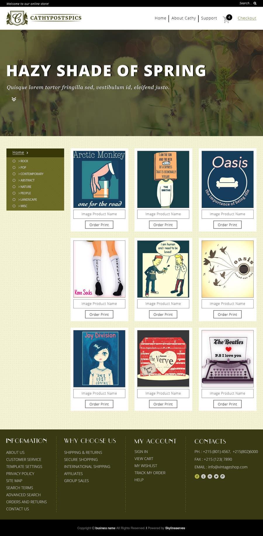 Konkurrenceindlæg #                                        39                                      for                                         Cathy Posts Pics - Website Design