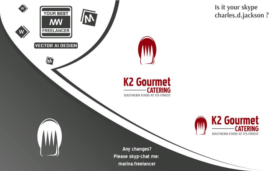 Contest Entry #                                        12                                      for                                         Design a Logo for K2 Gourmet Catering