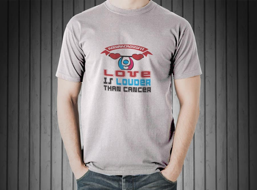"""Contest Entry #                                        11                                      for                                         Design a T-Shirt for Kodiak CrossFit Presents: """"A Whole WOD of Love"""""""