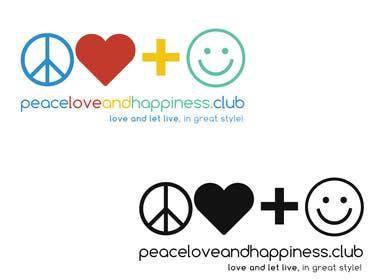 Nro 6 kilpailuun Design a Logo for www.peaceloveandhappiness.club käyttäjältä KremMtv