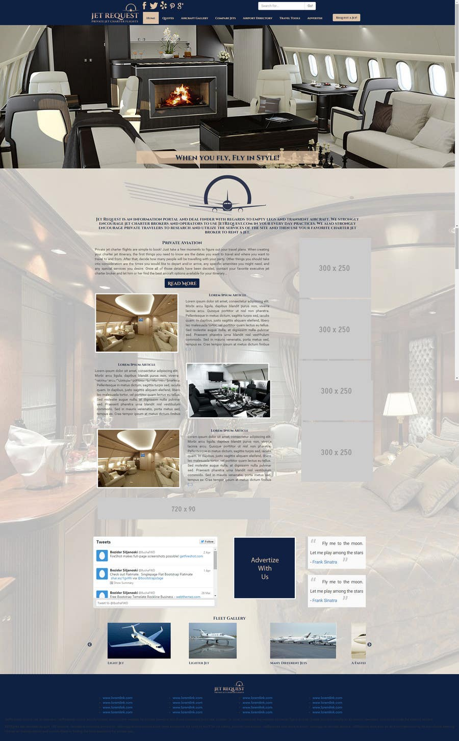 Konkurrenceindlæg #                                        18                                      for                                         Design a Website Mockup for Private Jet company