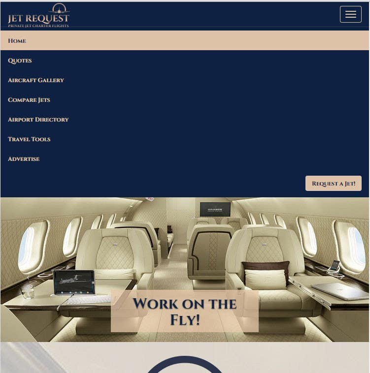 Konkurrenceindlæg #                                        19                                      for                                         Design a Website Mockup for Private Jet company