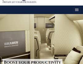 Nro 23 kilpailuun Design a Website Mockup for Private Jet company käyttäjältä jobgathu