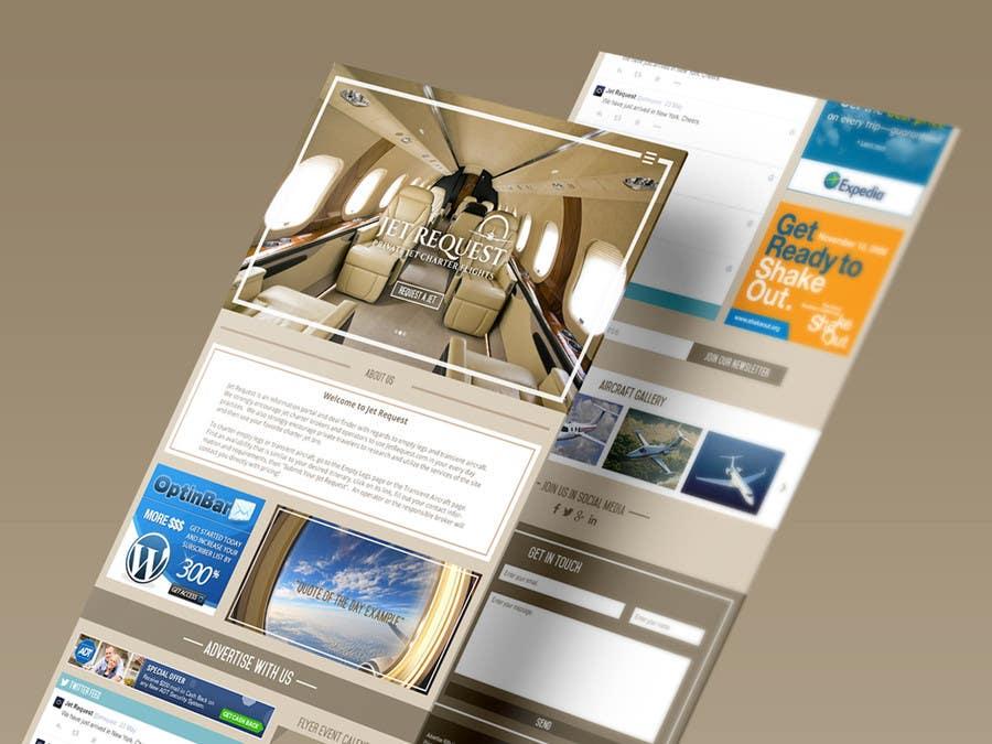 Konkurrenceindlæg #                                        35                                      for                                         Design a Website Mockup for Private Jet company
