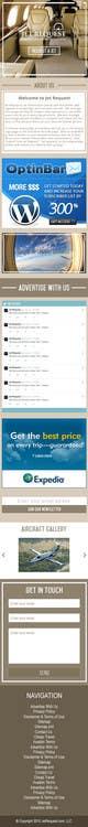 Konkurrenceindlæg #                                                35                                              billede for                                                 Design a Website Mockup for Private Jet company