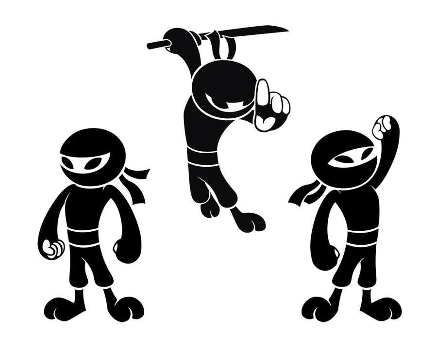Konkurrenceindlæg #7 for Design a logo / mascot character: adorable ninja!