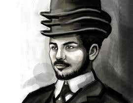nº 4 pour Create a Portrait Drawing of a late 19th Century Man wearing Multiple Bowler Hats par stevanzivkovic