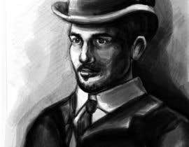 nº 7 pour Create a Portrait Drawing of a late 19th Century Man wearing Multiple Bowler Hats par stevanzivkovic
