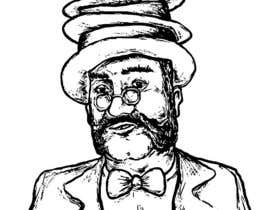 nº 8 pour Create a Portrait Drawing of a late 19th Century Man wearing Multiple Bowler Hats par utopicbalcanic