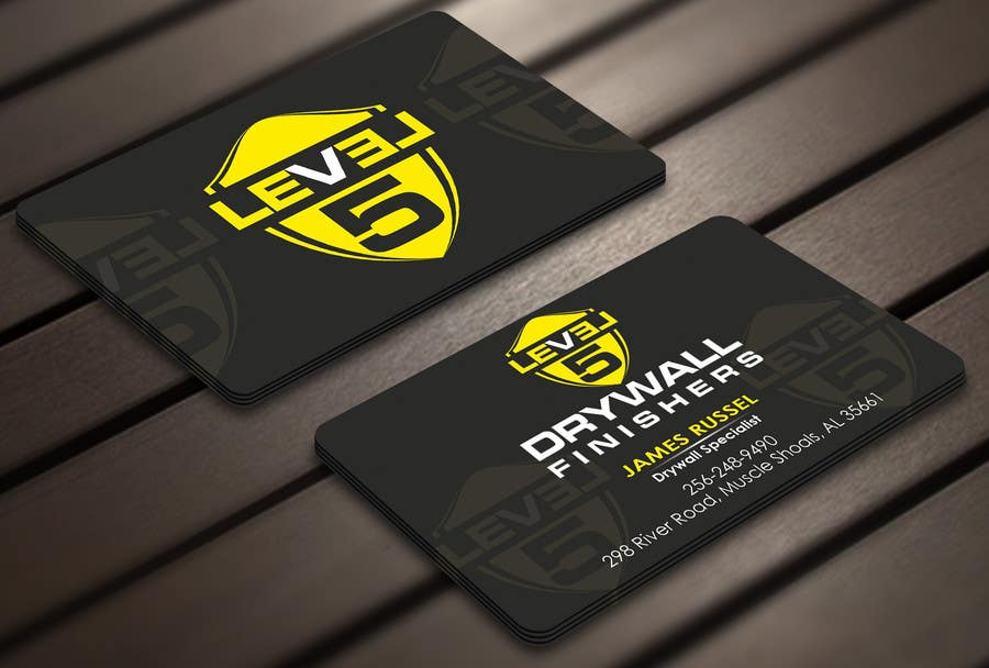 Design some business cards for drywall company freelancer for Drywall business card