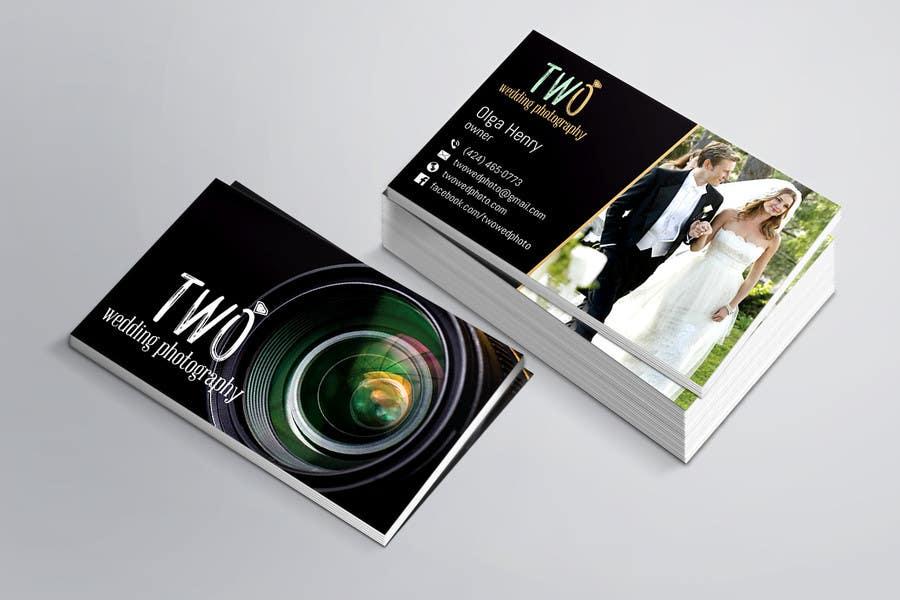 Konkurrenceindlæg #41 for Design some Business Cards for wedding photographers