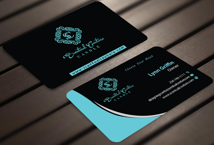Konkurrenceindlæg #                                        20                                      for                                         Create business card for Scentual Couture Candle