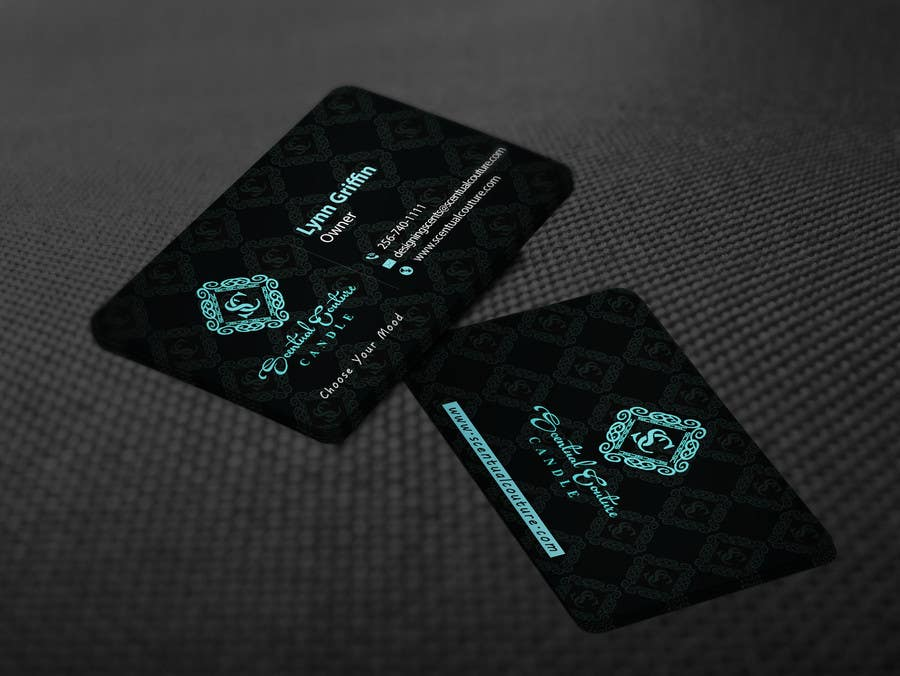 Konkurrenceindlæg #                                        24                                      for                                         Create business card for Scentual Couture Candle